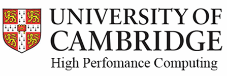 Logo for University of Cambridge, High Performance Computing